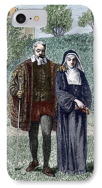 Galileo And His Daughter Maria Celeste IPhone Case