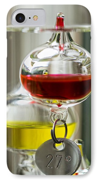 IPhone 7 Case featuring the photograph Galileo Thermometer by Jeremy Lavender Photography