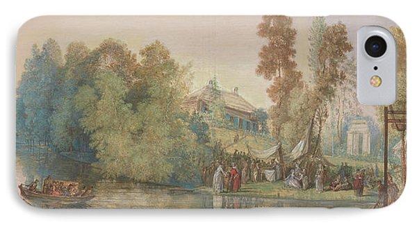 Gallant Scene  Picnic At A Lake, IPhone Case