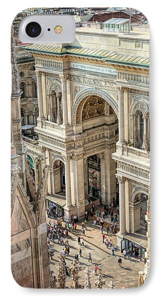 Galleria Milan Italy From Above IPhone Case