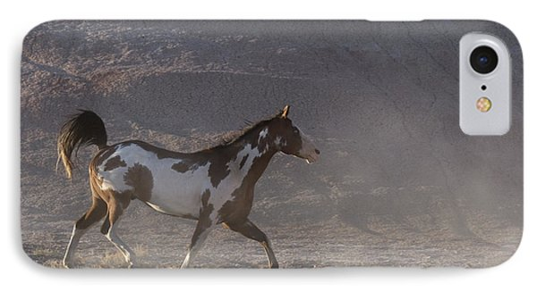 Galloping Pinto Horse IPhone Case by Jean-Louis Klein & Marie-Luce Hubert