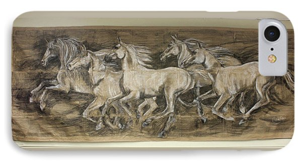 Galloping Stallions IPhone Case by Debora Cardaci