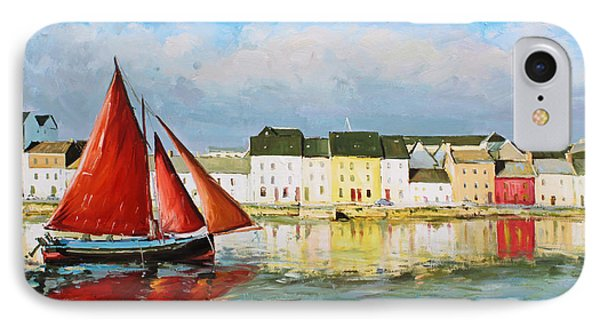 Galway Hooker Leaving Port Phone Case by Conor McGuire