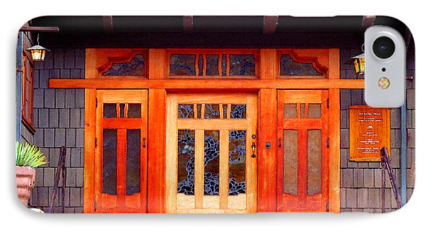 Gamble House Entry IPhone Case by Timothy Bulone