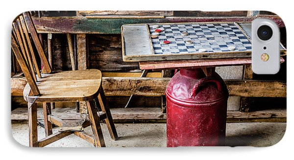 Game Of Checkers IPhone Case by M G Whittingham