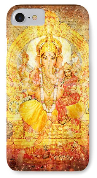 Ganesha Ganapati  IPhone Case by Ananda Vdovic