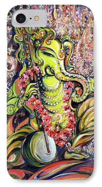 Ganesha - Playing Tanpura IPhone Case by Harsh Malik