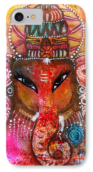 IPhone Case featuring the mixed media Ganesha by Prerna Poojara