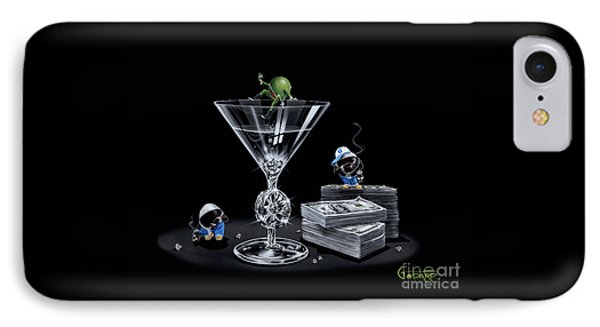 Gangsta Martini Livin' Large IPhone Case by Michael Godard