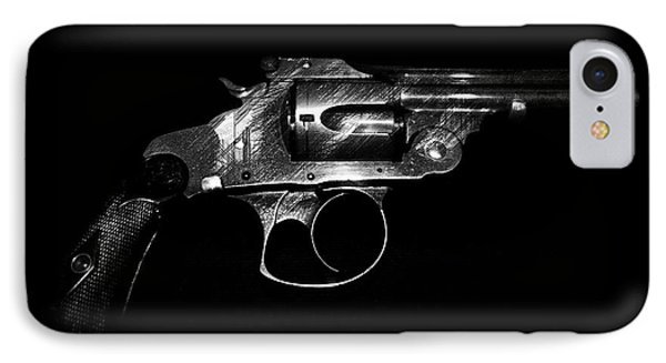 IPhone Case featuring the mixed media Gangster Gun by Daniel Hagerman