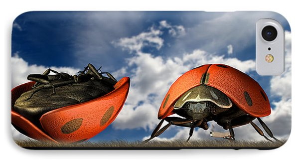 Gangster Ladybugs Nature Gone Mad IPhone Case by Bob Orsillo