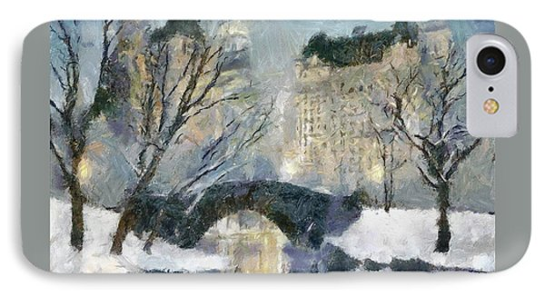 Gapstow Bridge In Snow IPhone Case by Dragica  Micki Fortuna