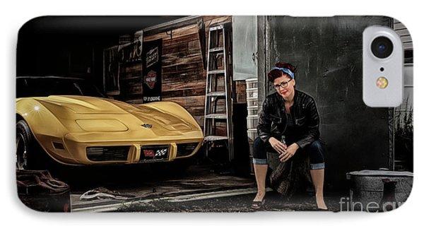Garage Portrait IPhone Case by Brad Allen Fine Art