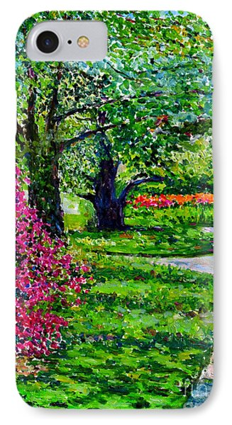 Garden At Snug Harbor IPhone Case by Anthony Butera