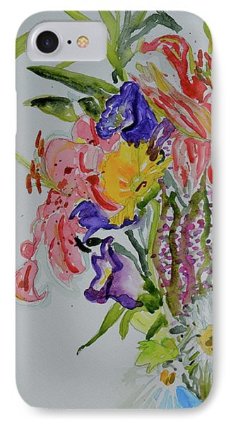 IPhone Case featuring the painting Garden Bouquet by Beverley Harper Tinsley