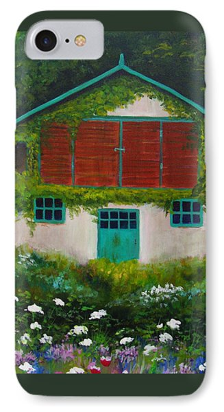 Garden Cottage IPhone Case by Anne Marie Brown