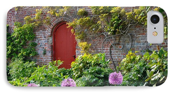 Garden Door - Paint With Canvas Texture IPhone Case
