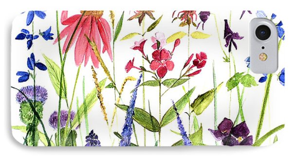 IPhone Case featuring the painting Garden Flowers by Laurie Rohner