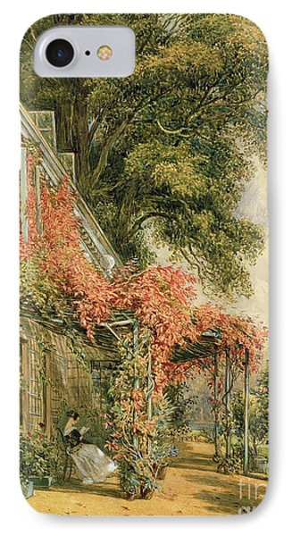 Garden Front Of Mr Robert Vernon's House At Twickenham IPhone Case by John James Chalon