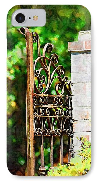IPhone Case featuring the photograph Garden Gate by Donna Bentley