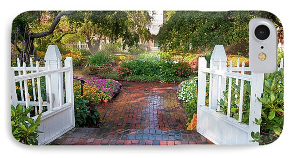 IPhone Case featuring the photograph Garden Gate by Susan Cole Kelly
