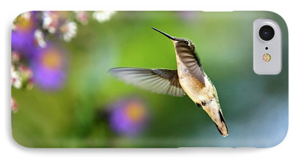 Garden Hummingbird Phone Case by Christina Rollo