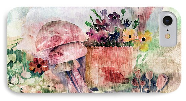 Garden In The Rain IPhone Case by Arline Wagner