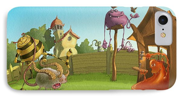 Garden Monsters IPhone Case by Andy Catling