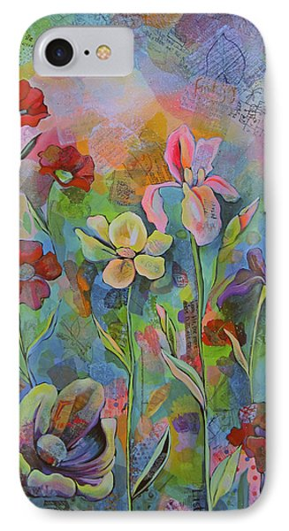Garden Of Intention - Triptych Center Panel IPhone 7 Case by Shadia Derbyshire
