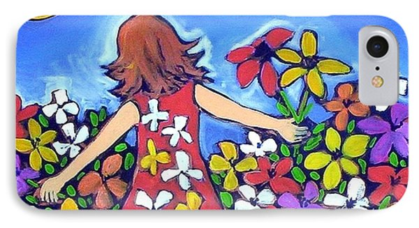 IPhone 7 Case featuring the painting Garden Of Joy by Winsome Gunning