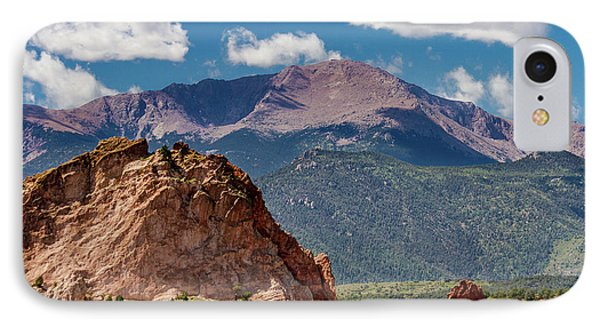 Garden Of The Gods And Pikes Peak IPhone Case by Bill Gallagher