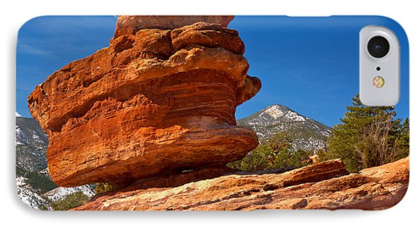 IPhone Case featuring the photograph Garden Of The Gods Balanced Rock by Adam Jewell
