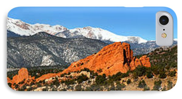 IPhone Case featuring the photograph Garden Of The Gods Extended Panorama by Adam Jewell