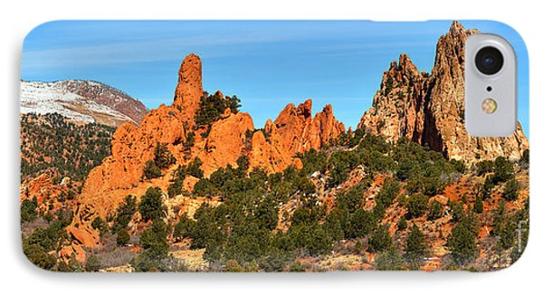 IPhone Case featuring the photograph Garden Of The Gods High Point Panorama by Adam Jewell