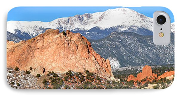 IPhone Case featuring the photograph Garden Of The Gods Panorama by Adam Jewell