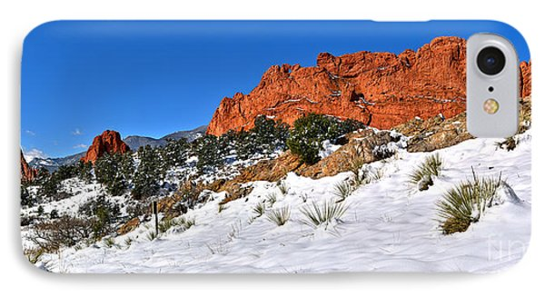 IPhone Case featuring the photograph Garden Of The Gods Red And White by Adam Jewell