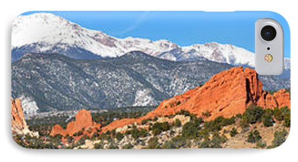 IPhone Case featuring the photograph Garden Of The Gods Red Rock Panorama by Adam Jewell