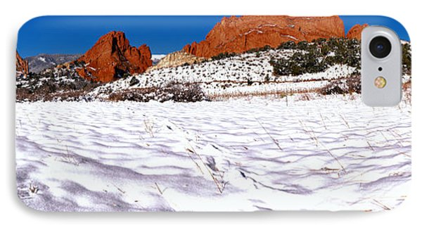 IPhone Case featuring the photograph Garden Of The Gods Snowy Morning Panorama by Adam Jewell