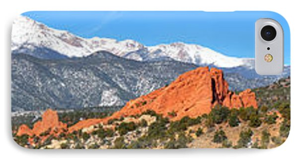 IPhone Case featuring the photograph Garden Of The Gods Spring Panorama by Adam Jewell
