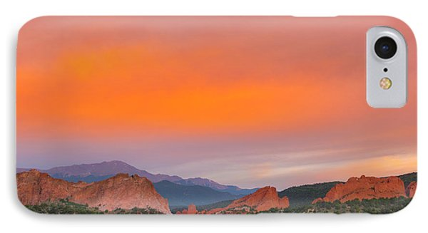 IPhone Case featuring the photograph Garden Of The Gods Sunset by Tim Reaves