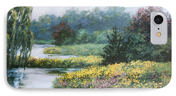 Garden On Water IPhone Case by Laurie Hein