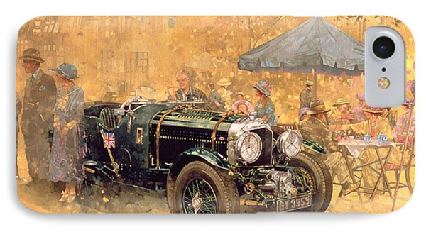 Garden Party With The Bentley IPhone Case by Peter Miller