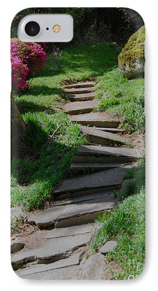 Garden Path IPhone Case by Linda Mesibov