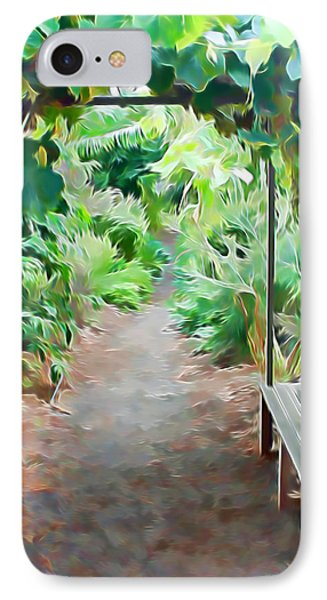 Garden Path IPhone Case by Pamela Walton