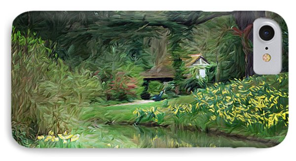 Garden Pond IPhone Case by Carol Crisafi