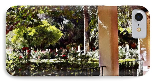 IPhone Case featuring the photograph Garden Promenade - San Fernando Mission by Glenn McCarthy Art and Photography