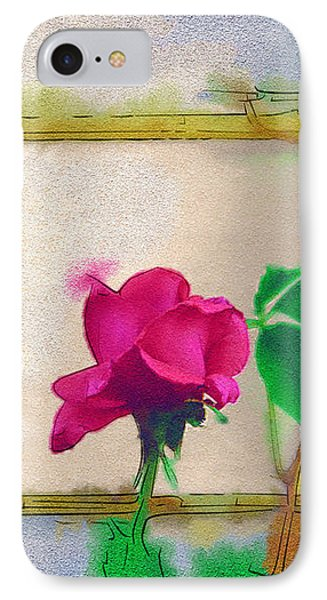 IPhone Case featuring the digital art Garden Rose by Holly Ethan