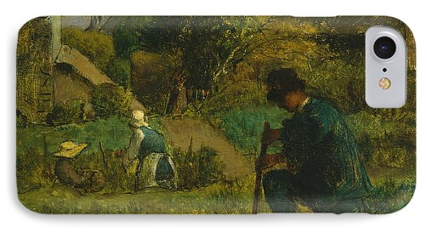 Garden Scene IPhone Case by Franois Millet