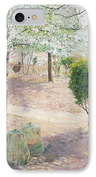 Garden Scene From Grez IPhone Case by Gottfrid