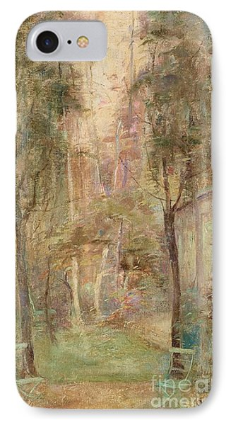 Garden Scene From The Artist IPhone Case by MotionAge Designs